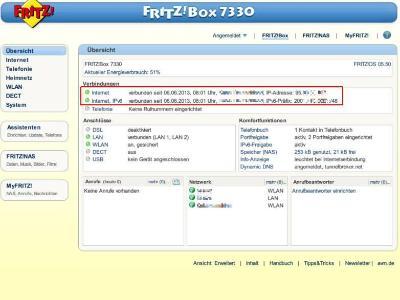 Über die IP-Adresse informieren